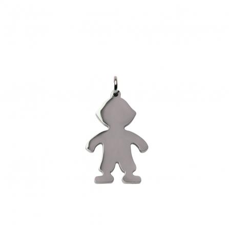 Silver Boy Charm