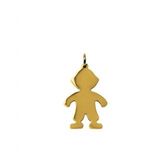 Gold Boy Charm