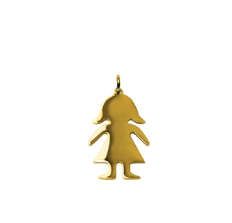 Gold Girl Charm